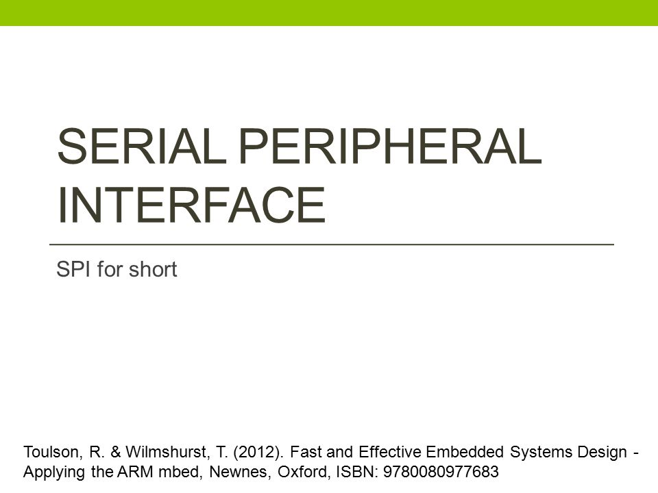 Serial Peripheral Interface
