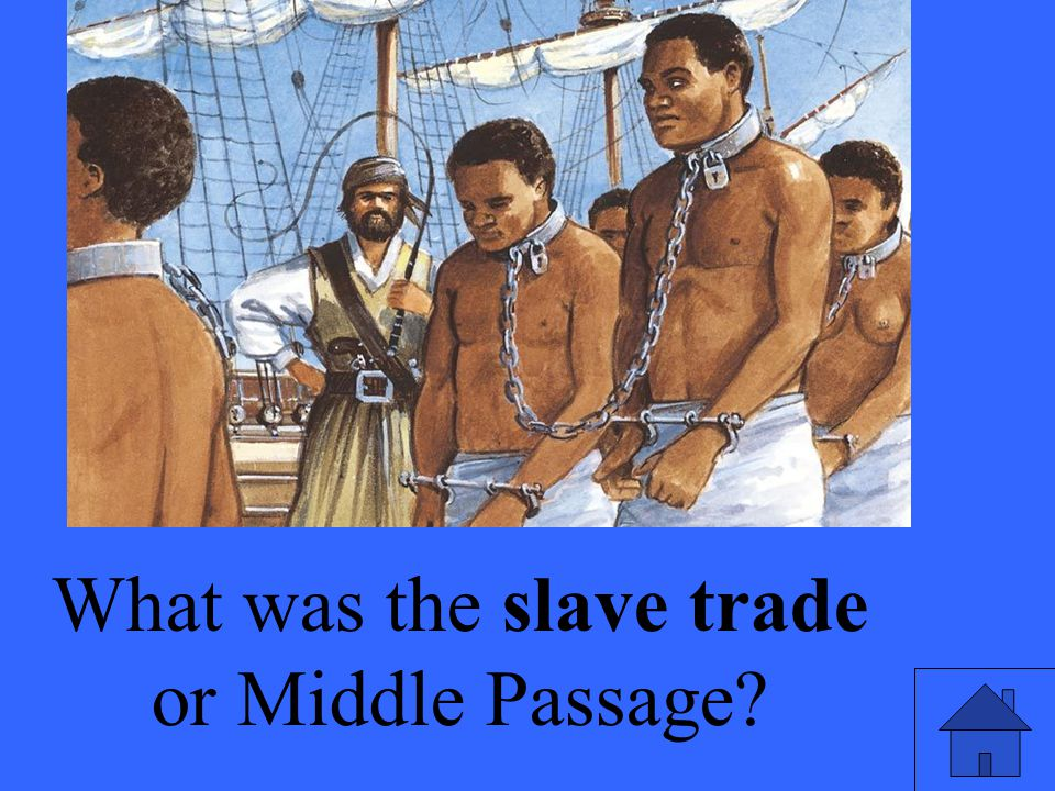 What was the slave trade or Middle Passage