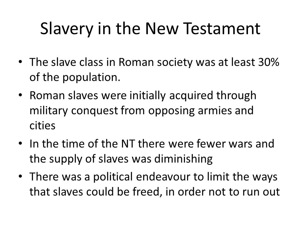 Slavery in the New Testament
