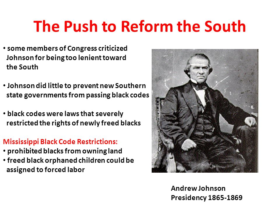 The Push to Reform the South