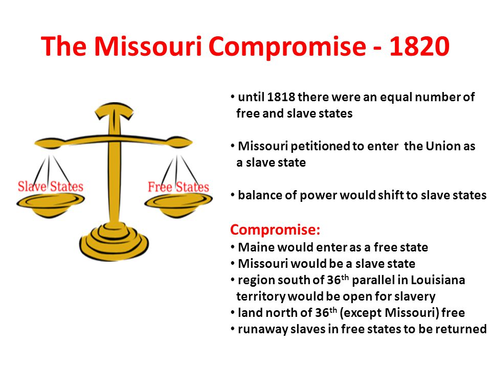 The Missouri Compromise - 1820