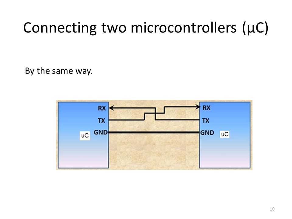 Connecting two microcontrollers (µC)