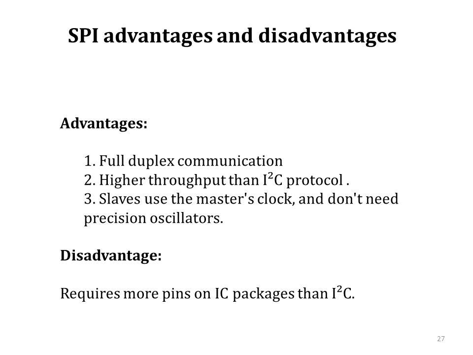 SPI advantages and disadvantages