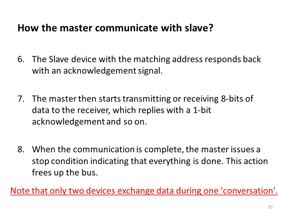 How the master communicate with slave