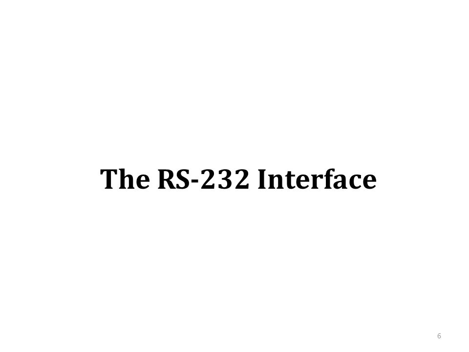 The RS-232 Interface