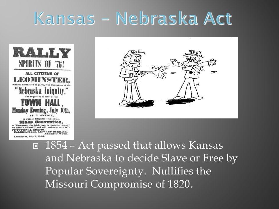 Kansas – Nebraska Act