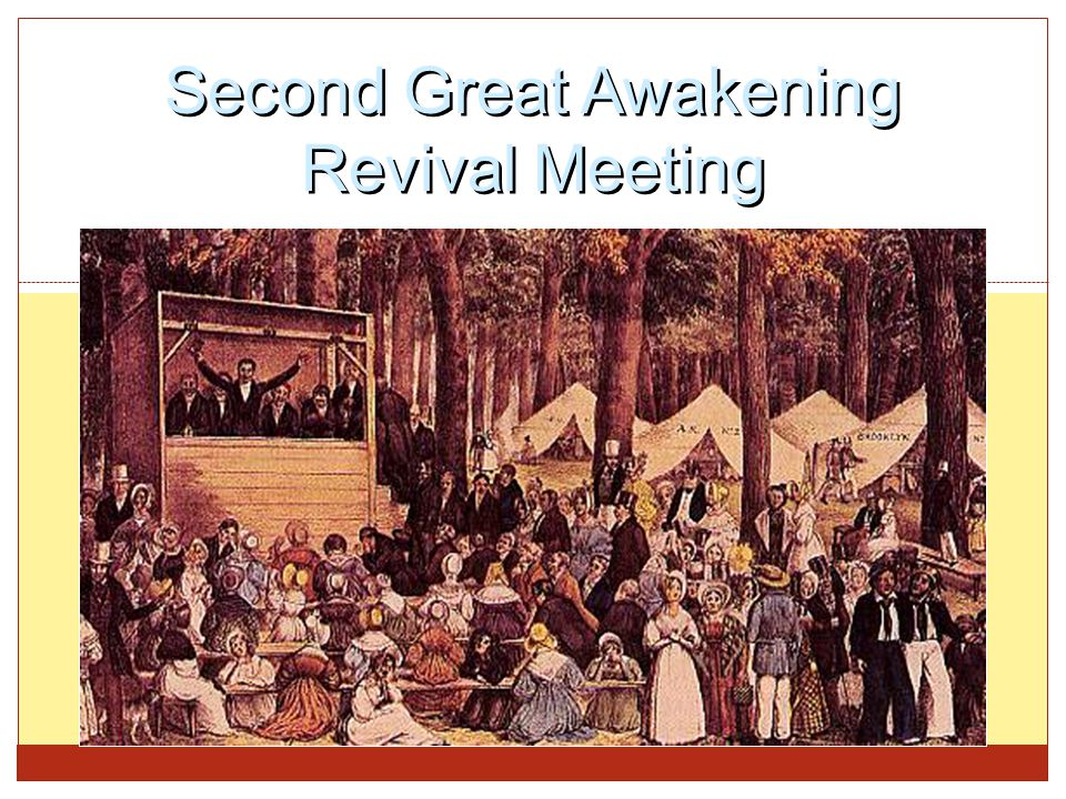 Second Great Awakening Revival Meeting