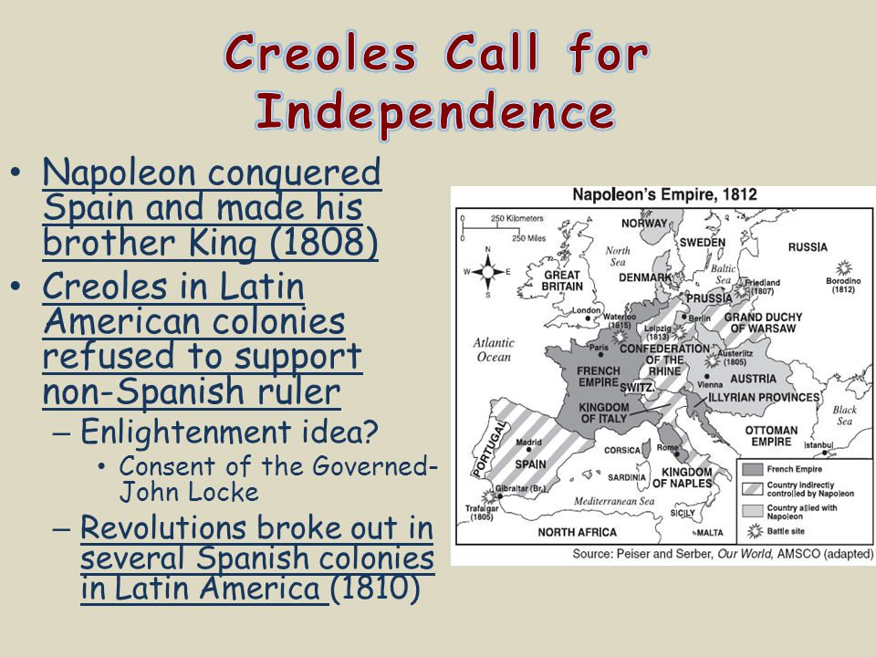 Creoles Call for Independence