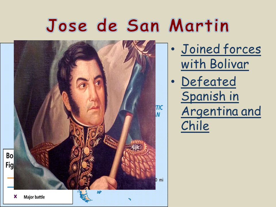 Jose de San Martin Joined forces with Bolivar
