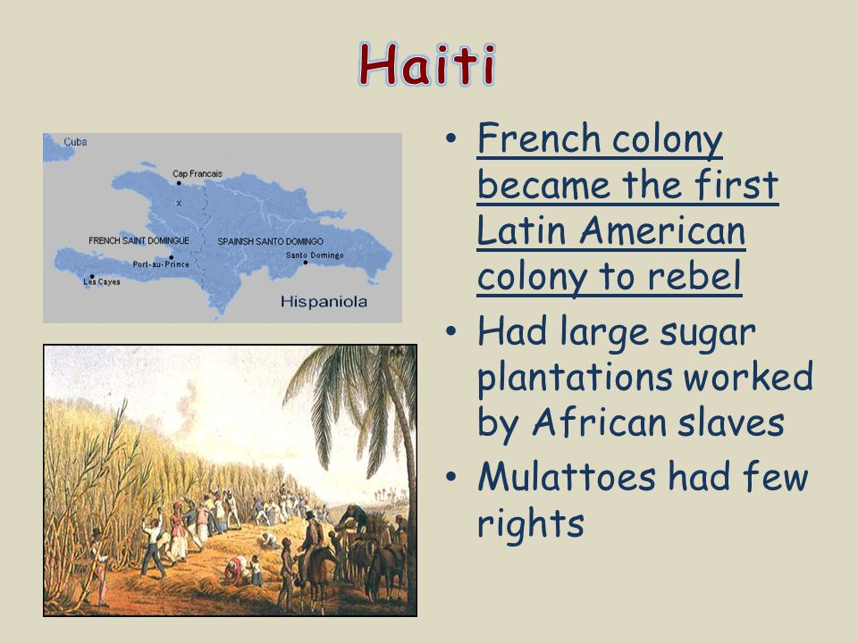 Haiti French colony became the first Latin American colony to rebel