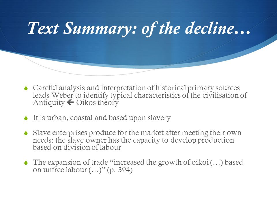 Text Summary: of the decline…