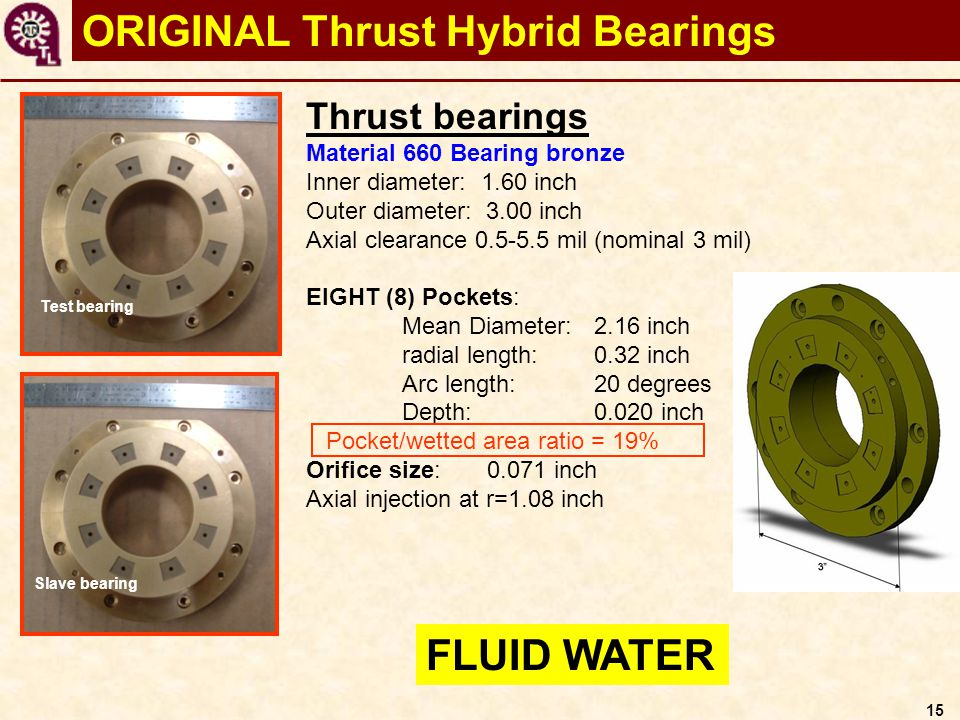 ORIGINAL Thrust Hybrid Bearings