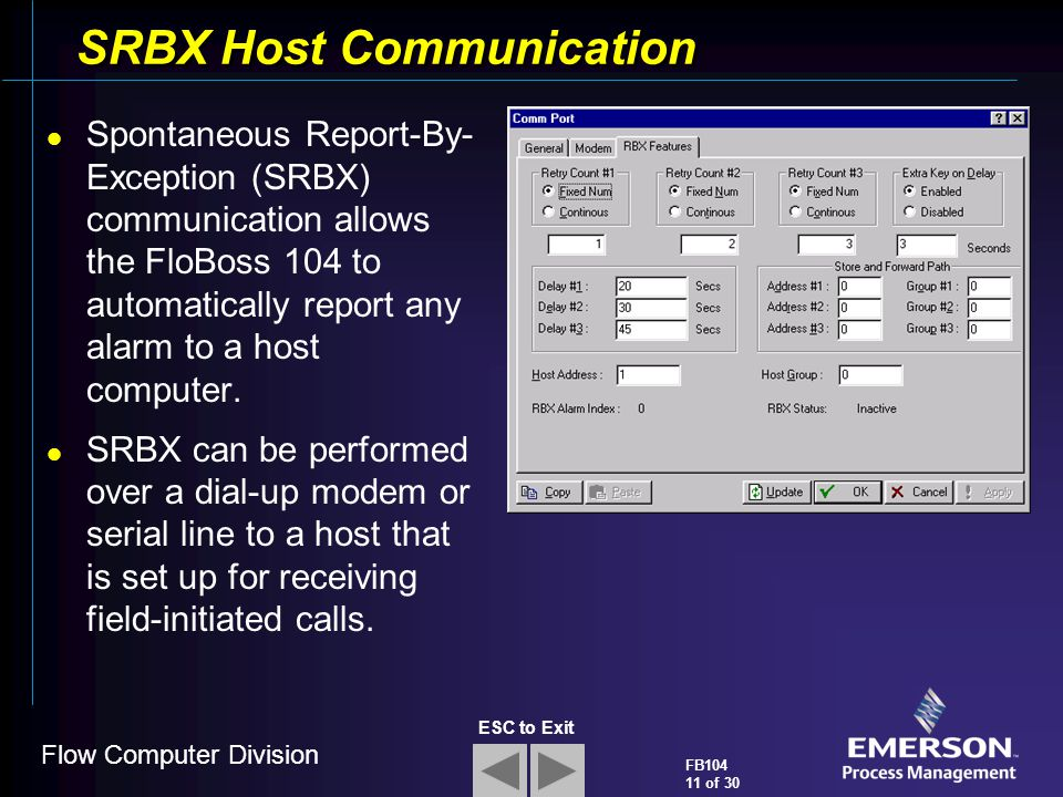 SRBX Host Communication