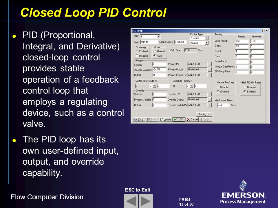 Closed Loop PID Control