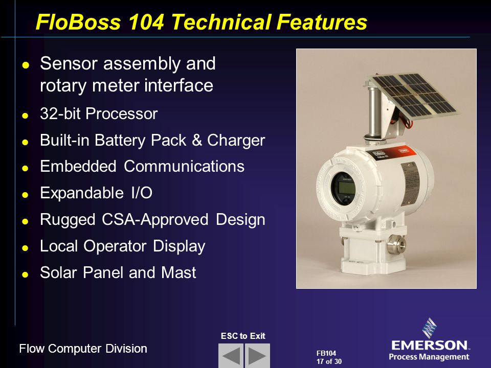 FloBoss 104 Technical Features