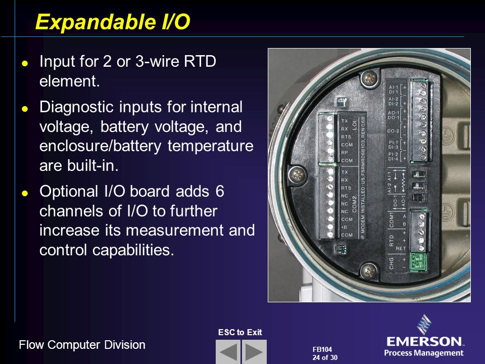 Expandable I/O Input for 2 or 3-wire RTD element.