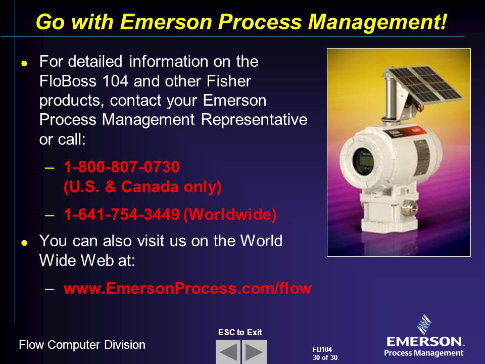 Go with Emerson Process Management!