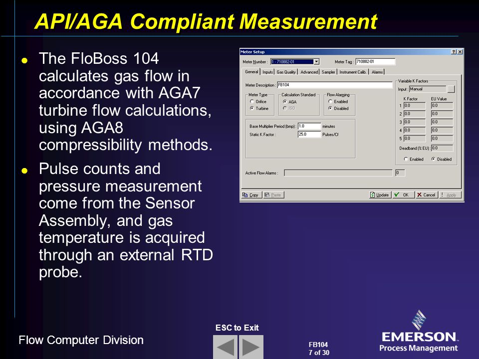 API/AGA Compliant Measurement