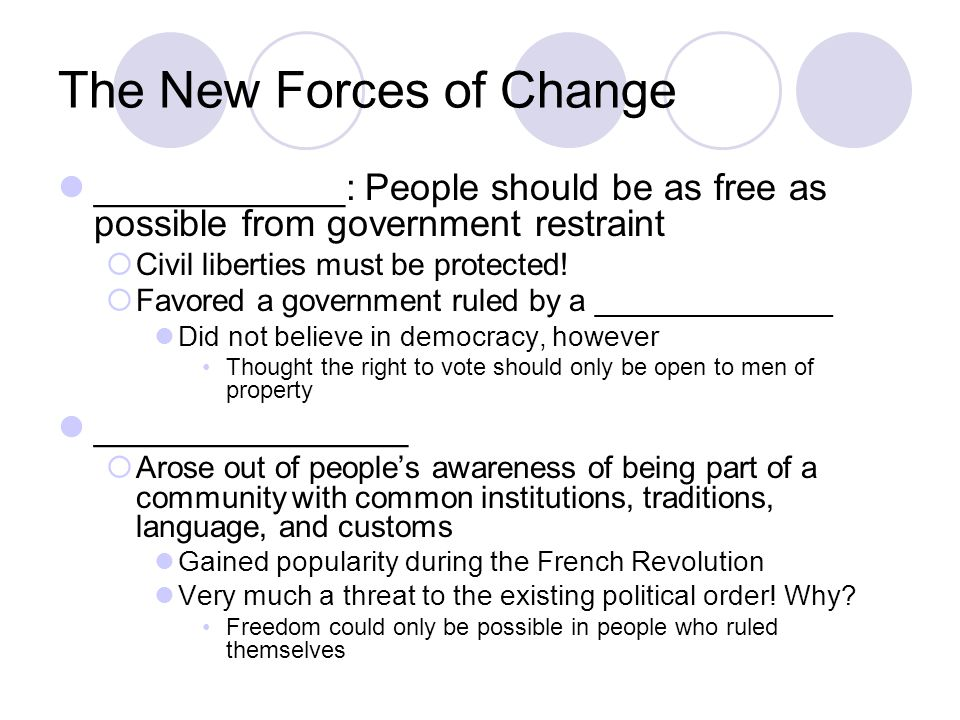 The New Forces of Change