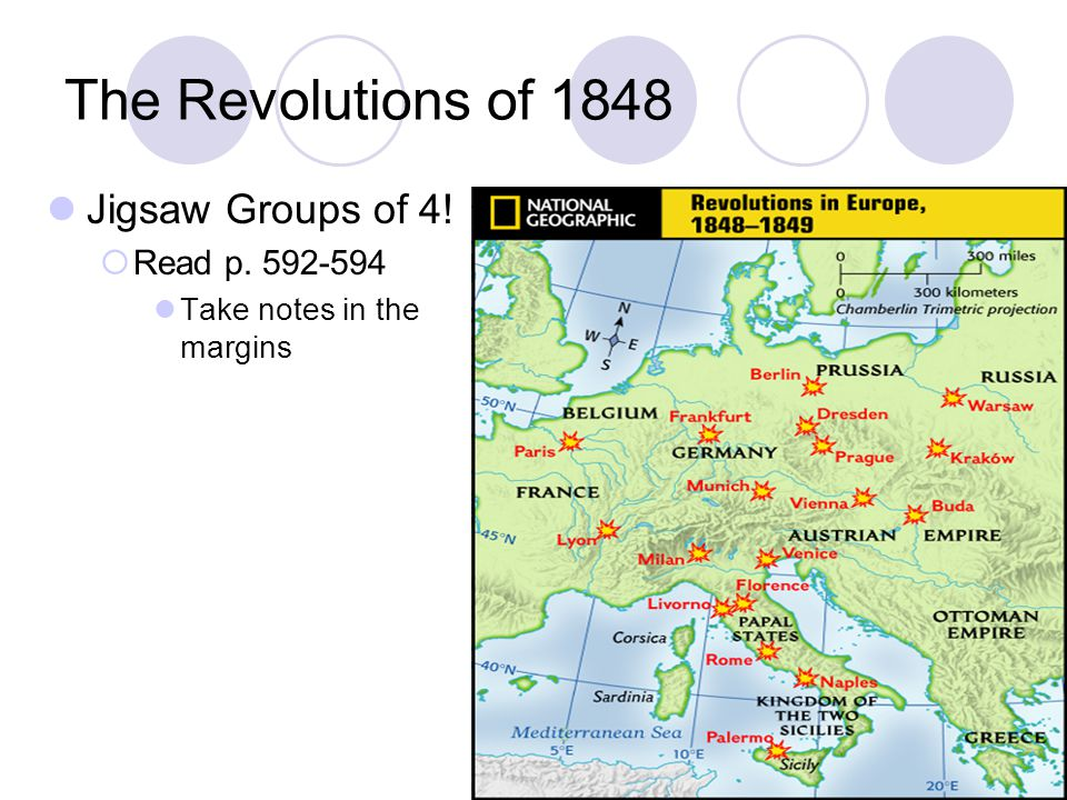 The Revolutions of 1848 Jigsaw Groups of 4! Read p. 592-594