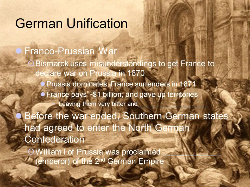 German Unification Franco-Prussian War