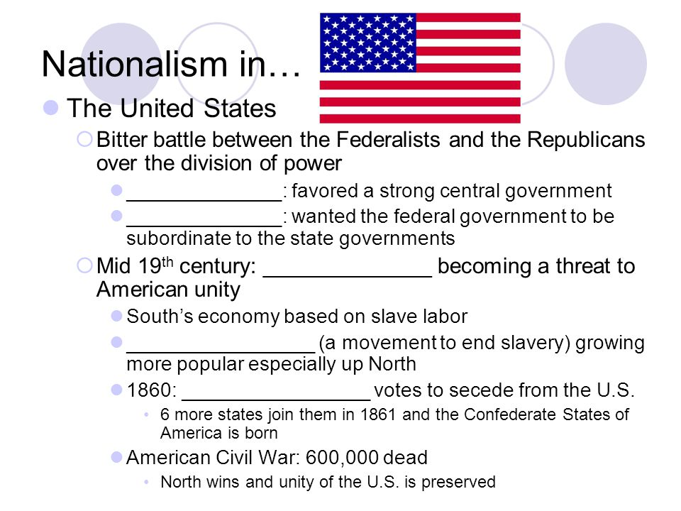 Nationalism in… The United States