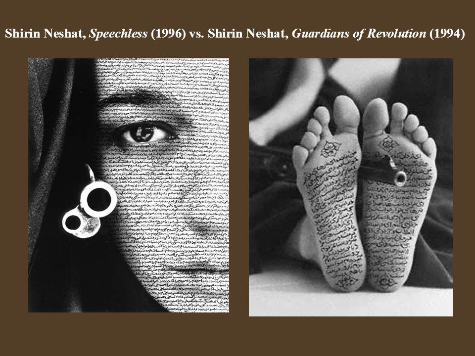 Shirin Neshat, Speechless (1996) vs