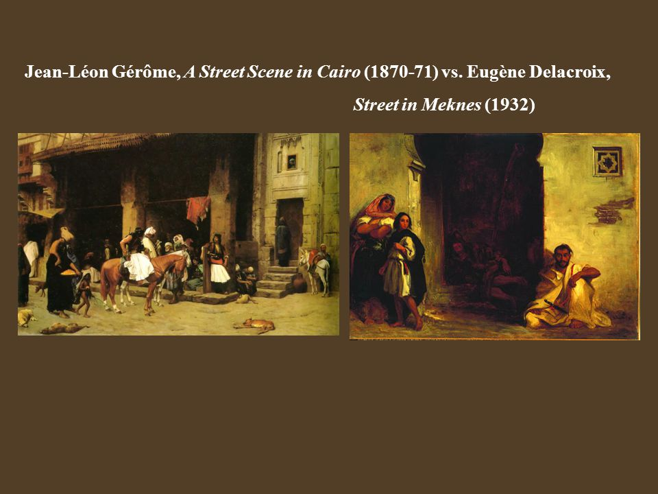 Jean-Léon Gérôme, A Street Scene in Cairo (1870-71) vs