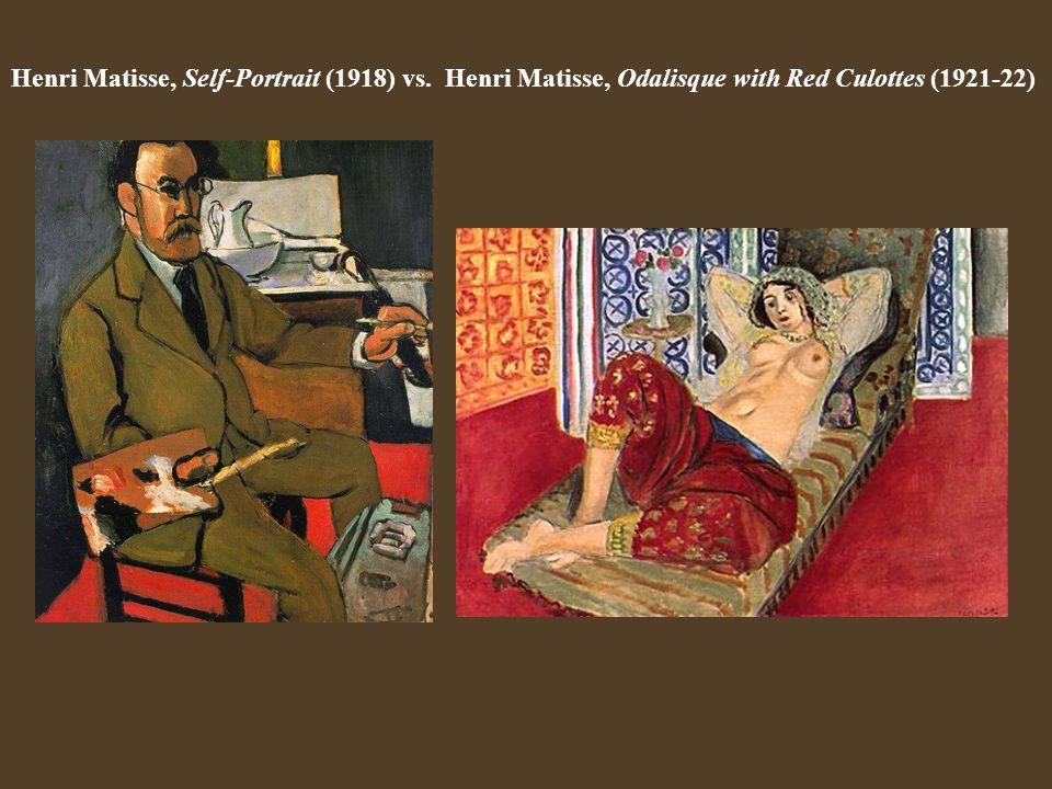 Henri Matisse, Self-Portrait (1918) vs