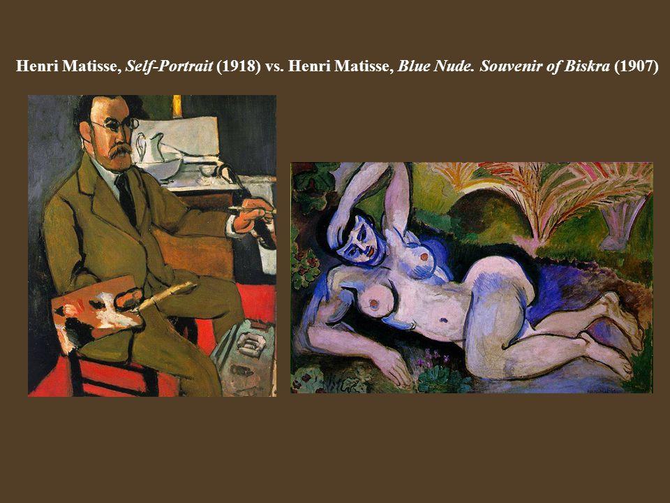 Henri Matisse, Self-Portrait (1918) vs. Henri Matisse, Blue Nude
