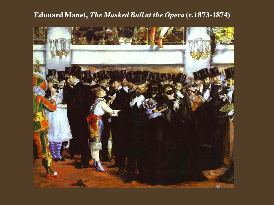 Edouard Manet, The Masked Ball at the Opera (c.1873-1874)