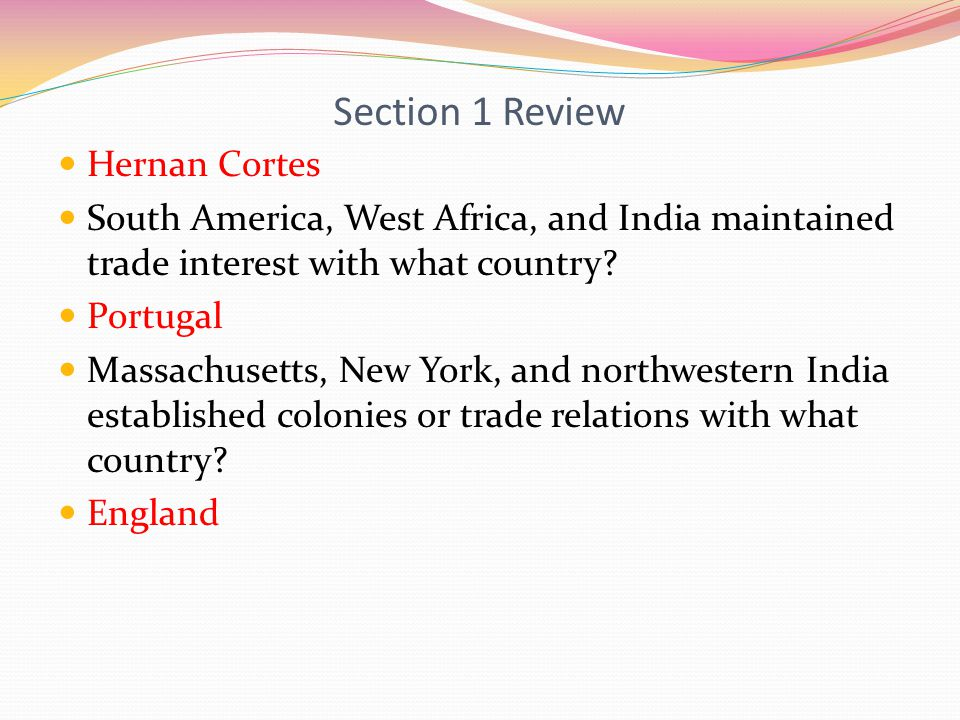 Section 1 Review Hernan Cortes