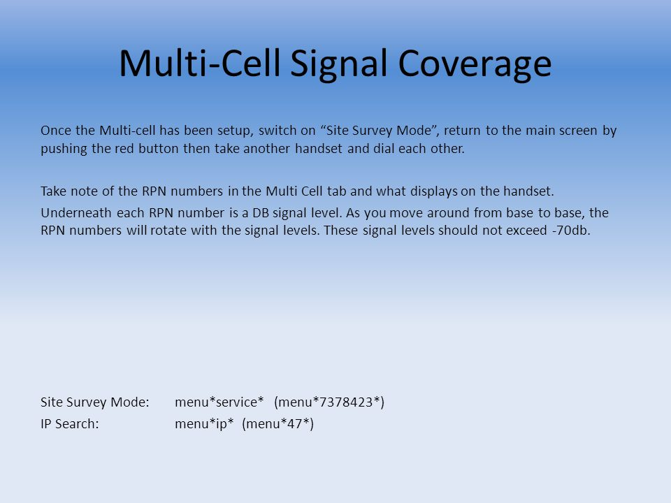Multi-Cell Signal Coverage