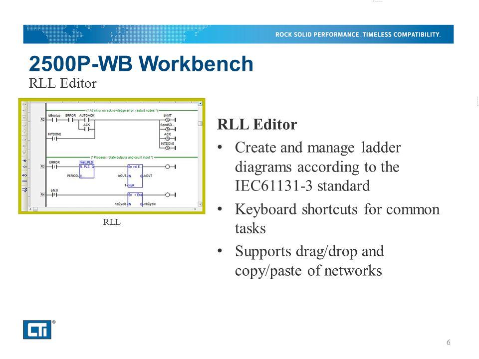 2500P-WB Workbench RLL Editor