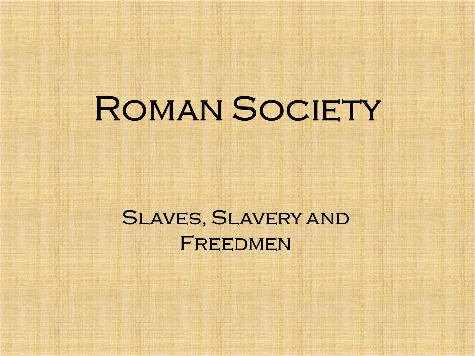 Slaves, Slavery and Freedmen