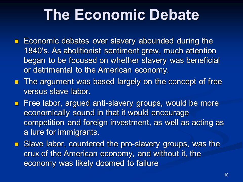 The Economic Debate