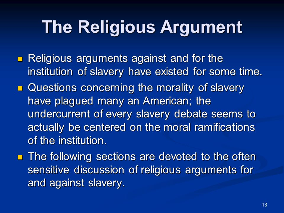 the biblical arguments for and against slavery Here are some common arguments made by christians at the time: biblical reasons  why did so many christians support slavery share 652 exit.