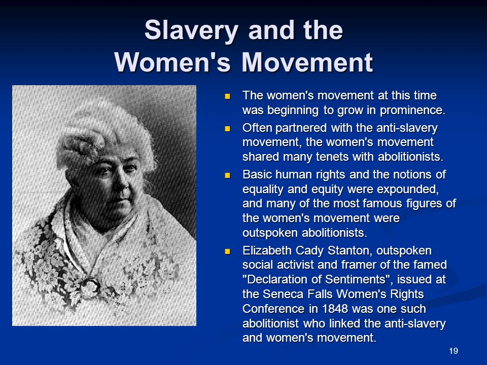 Slavery and the Women s Movement