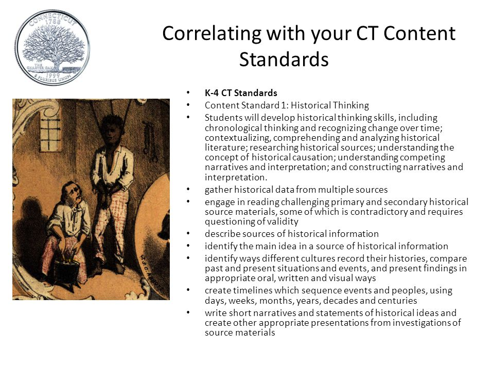 Correlating with your CT Content Standards