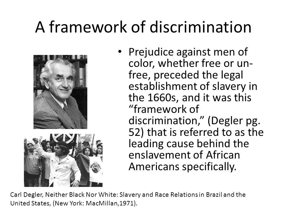 A framework of discrimination