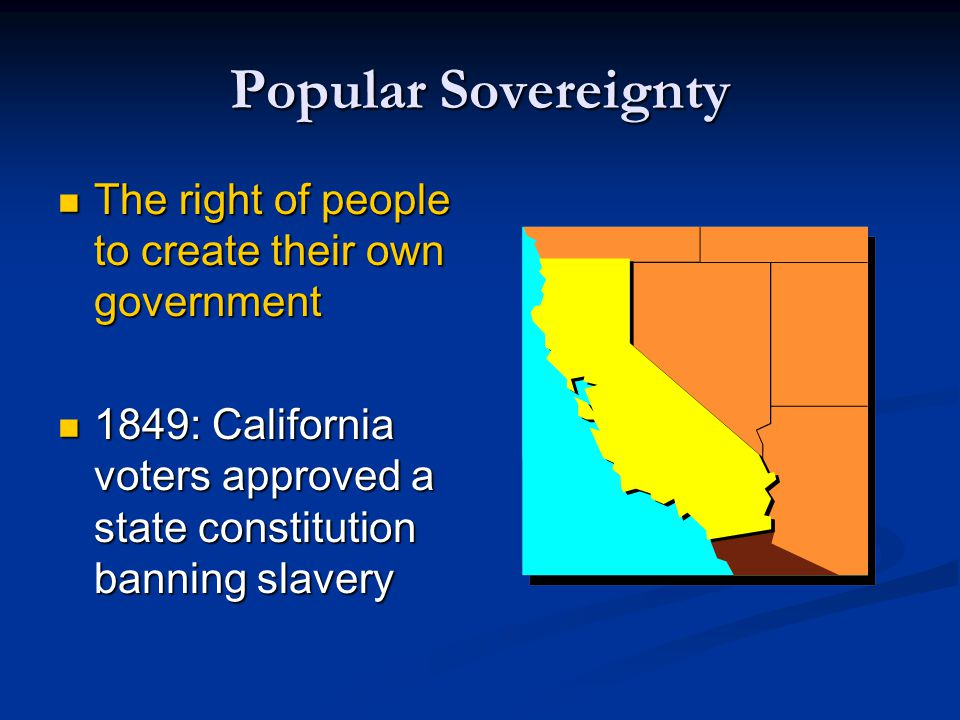 Popular Sovereignty The right of people to create their own government