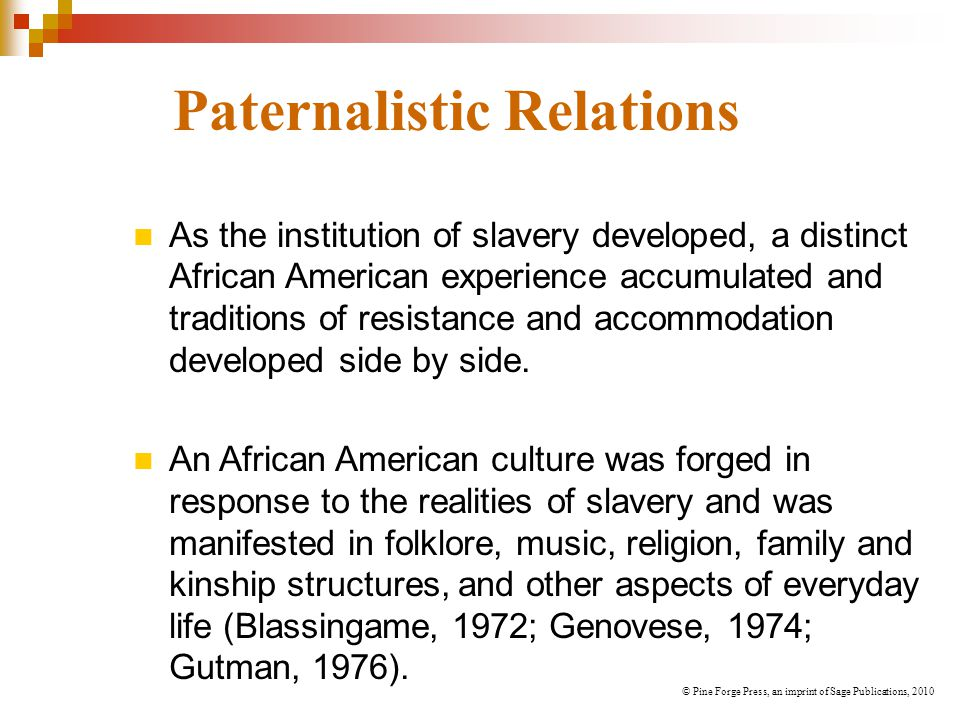 Paternalistic Relations