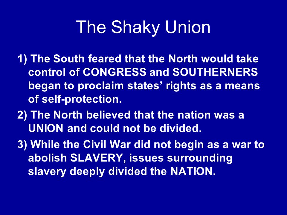 The Shaky Union