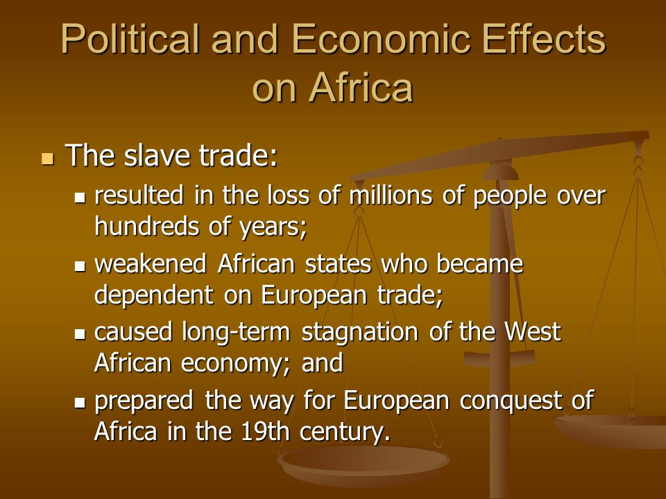 Political and Economic Effects on Africa