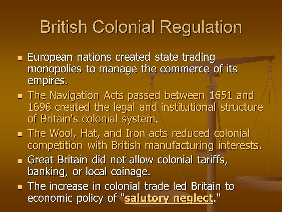 British Colonial Regulation
