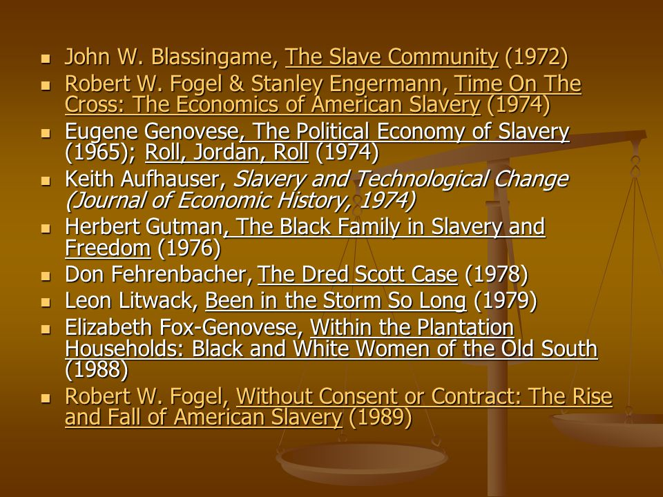 John W. Blassingame, The Slave Community (1972)