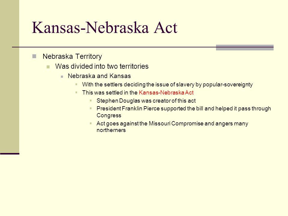 Kansas-Nebraska Act Nebraska Territory