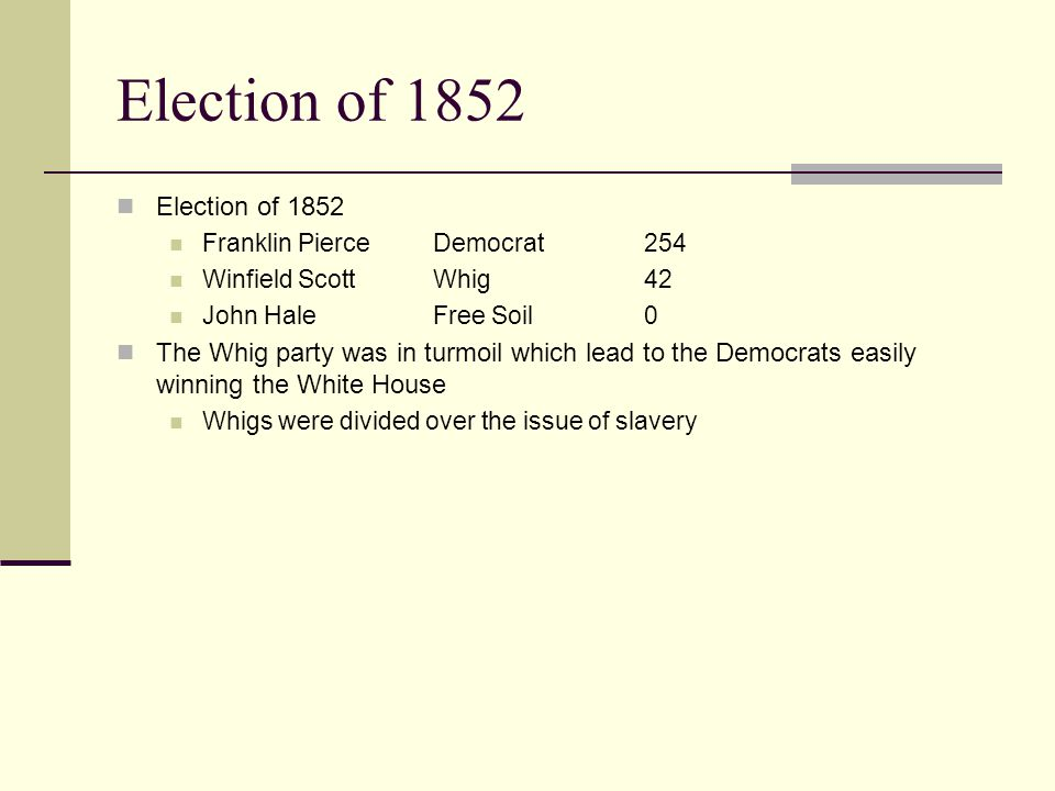 Election of 1852 Election of 1852