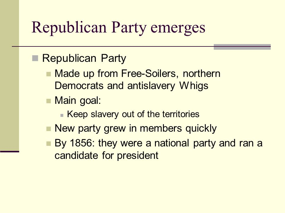 Republican Party emerges