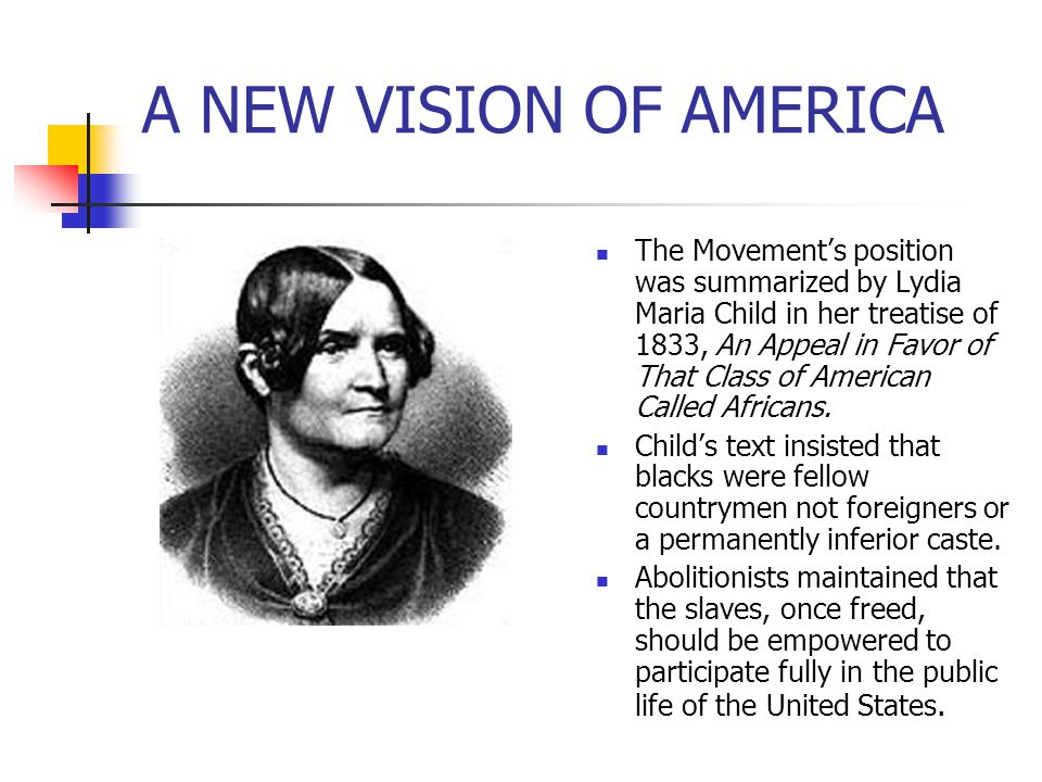 A NEW VISION OF AMERICA